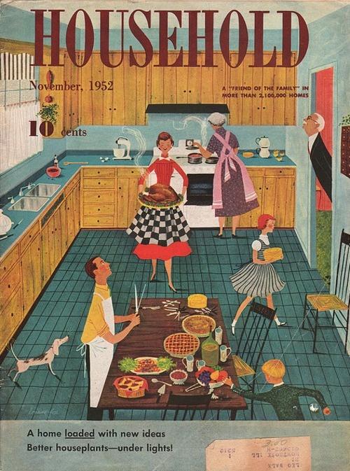 Household magazine november 1952 illustration by for Soil x cleaner