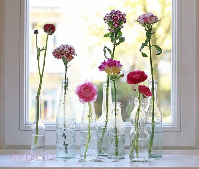 Upcycling Vase aus unterschiedlichen Flaschen wie zB Fritz Cola, Sinalco, Bionade