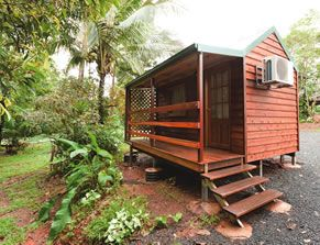 Cabins now available for overnight accommodation! Paronella Park now has 6 basic cabins available for hire. Contact Paronella Park to make a booking. http://www.paronellapark.com.au/cabins.html