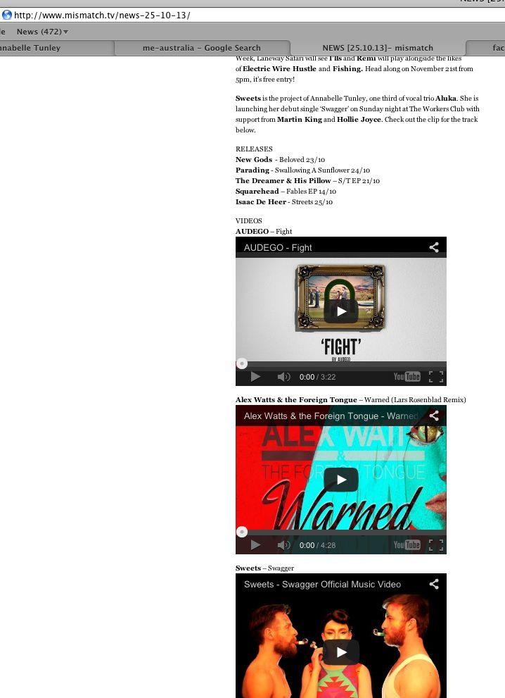Mismatch.TV - launch news/clip
