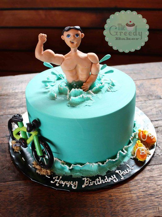 Triathlon Cake : Happy Birthday !  ^^   / Trimundo