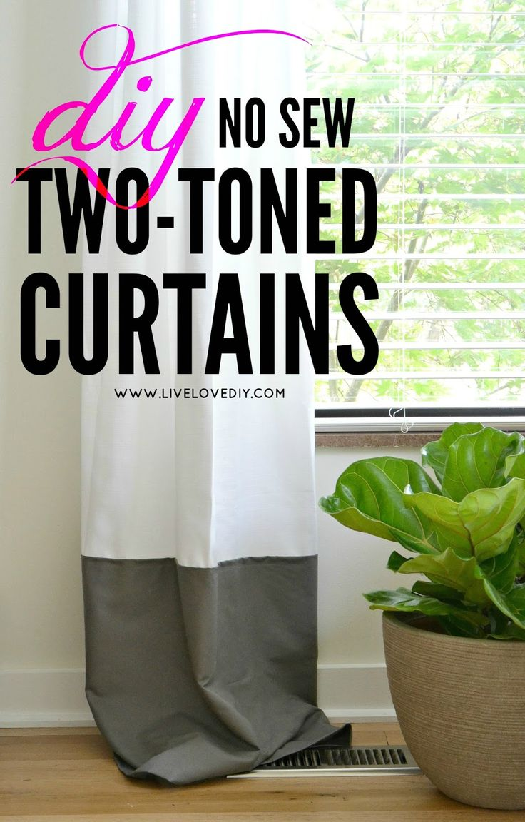 diy no sew two toned curtains livelovediy