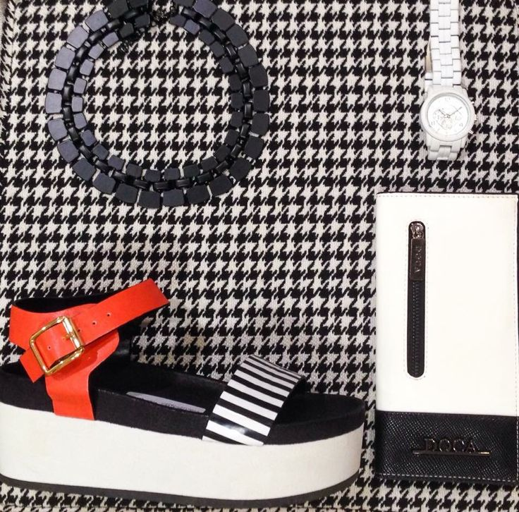 Black - White - Red summer shoes, wallet, watches, necklace  ALL DOCA SS15