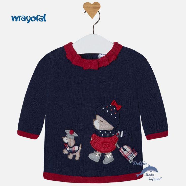 Vestido bebe niña MAYORAL NEWBORN tricotosa animales
