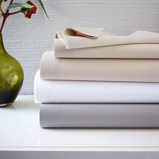 $140 organic, fair-trade 400-Thread-Count Organic Cotton Percale Sheet Set