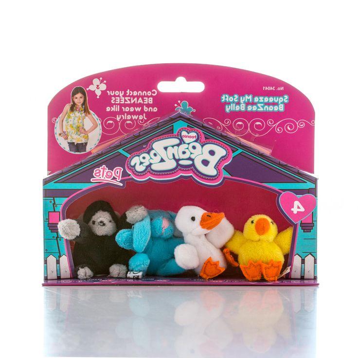 Brix'n Clix Brix'n Clix, Beanzeez мини плюш в наборе Цыпленок, Утенок, Кролик, Горилла