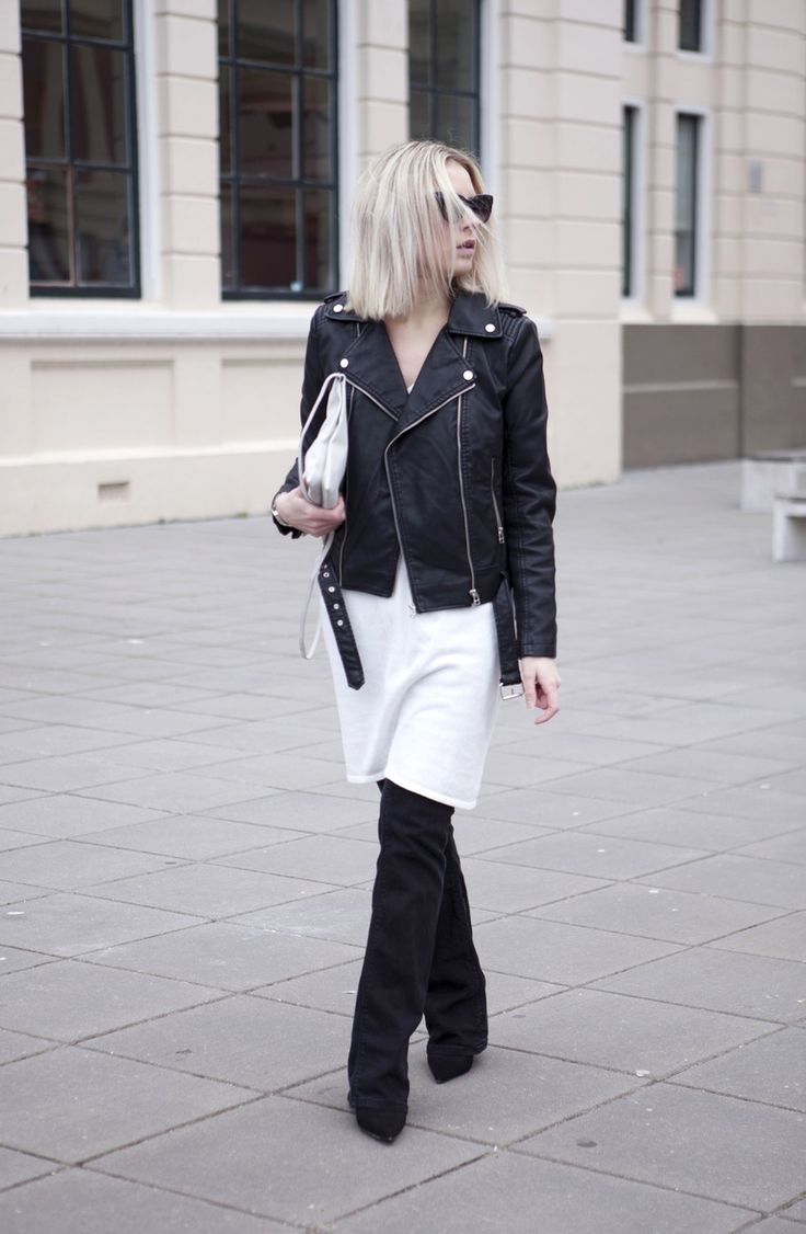 dress over pants flared jeans outfit fashionhoax