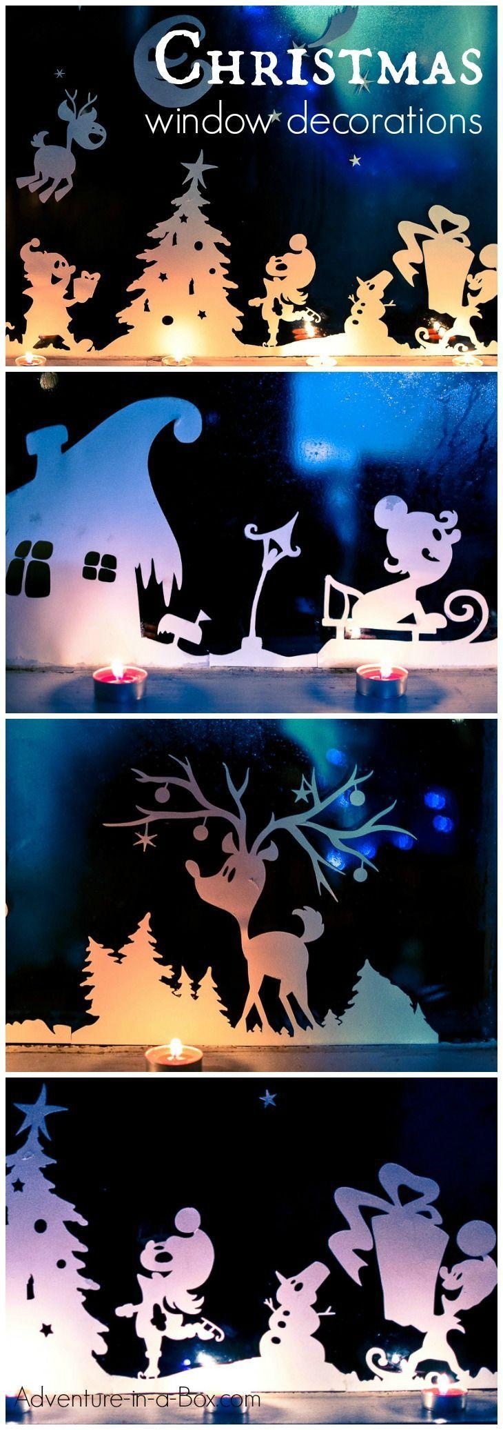 Christmas window lights decorations - Christmas Window Decorations