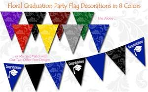 Free Graduation Party Flag Decorations | Printable Party Kits