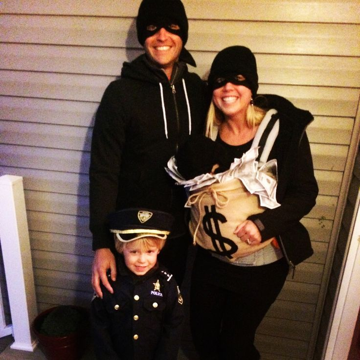 Family costumes! Cops and robbers with the loot!  sc 1 st  Pinterest & The 227 best Cops and Robbers images on Pinterest | Police cars ...