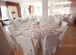 The beautiful Rubino Room, a conference rooms of Villa Diamante, Naples, Italy.