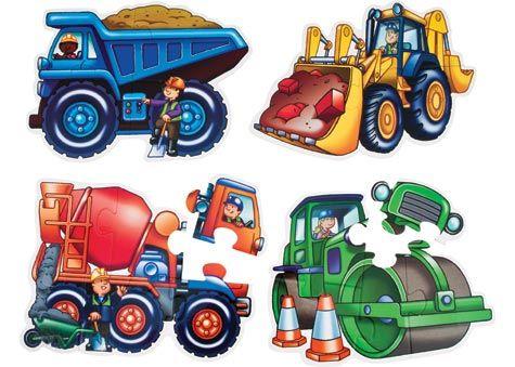 Galt - Construction Vehicles Shape Puzzle Set