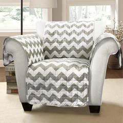 Chevron Furniture Protectors Gray/ White Armchair - Kmart