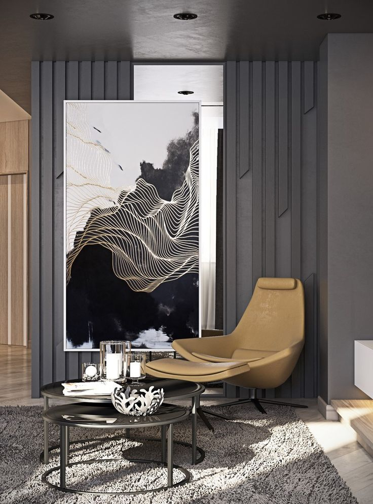 Modern furniture | A small corner decor with modern armchair and round set of coffee tables | www.bocadolobo.com/ #luxuryfurniture #designfurniture