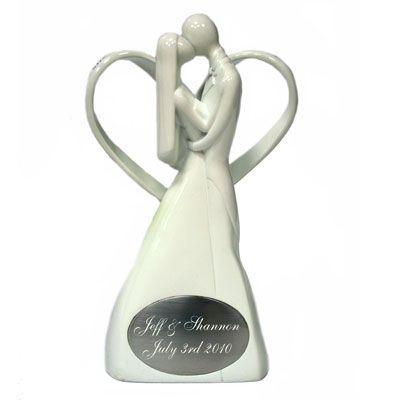 Cake Topper - Bride & Groom in Heart #thingsengravedwedding