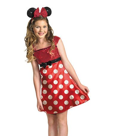 Another great find on #zulily! Red Minnie Sequin Dress-Up Set - Girls by Disguise #zulilyfinds