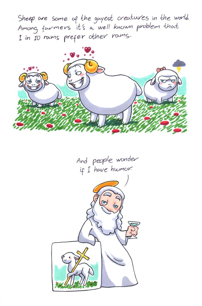 Sheep from humoncomics.com same goes for female cows (well, just cows, since a cow is already female)
