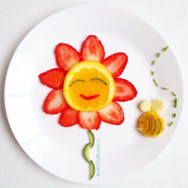fun with food! happy flower