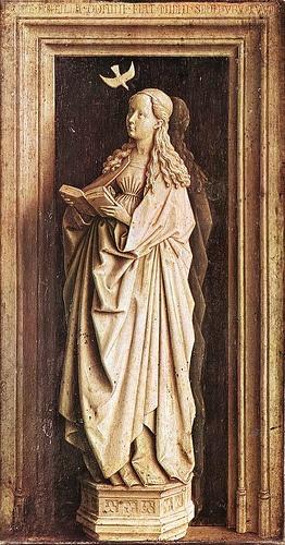 Van Eyck, Jan (1390-1441) - 1436c. Annunciation (Museo Thyssen-Bornemisza, Madrid)