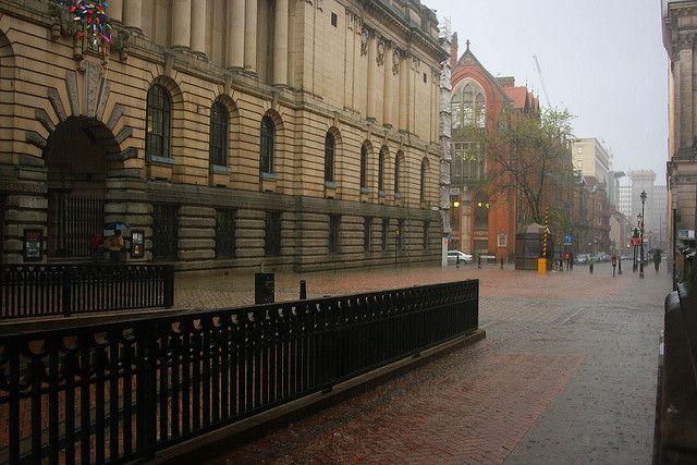 Rain in Birmingham, England