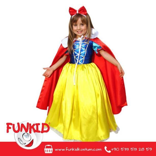 """""""Ayna, ayna söyle bize pamuk prensesimizden daha güzeli var mı bu yeryüzünde?"""" 😊 Sarı etekli elbisesi, kırmızı pelerini ve kafasındaki şirin kurdelasıyla bizce ondan güzeli yok! 23 Nisan Çocuk Bayramı için sipariş almaya devam ediyoruz.. Özel günleriniz ve doğumgünleriniz için de Funkid'i gönül rahatlığıyla tercih edebilirsiniz. İnternet sitemizde, tüm ürünlerin fiyatlarına ulaşabilirsiniz. www.funkidkostum.com #pamukprenses #kizim #kids #çocuk #pelerin"""