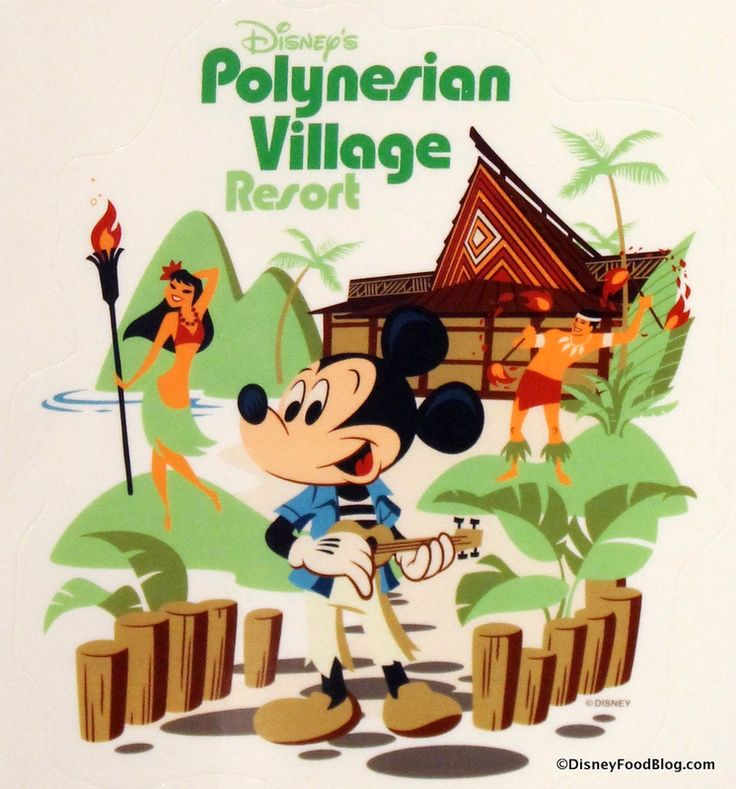 Isn't this Polynesian Village Resort decal awesome??? tami@goseemickey.com