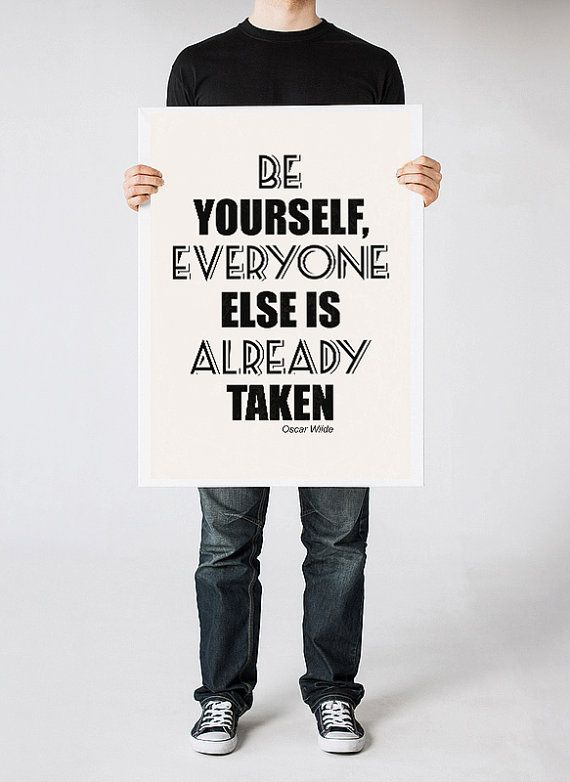 Quote poster Black and White art Oscar Wilde by ReStyleGraphic