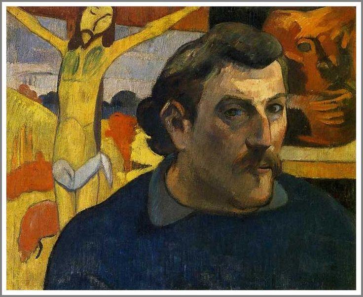 ポール・ゴーギャン「黄色いキリストのある自画像」