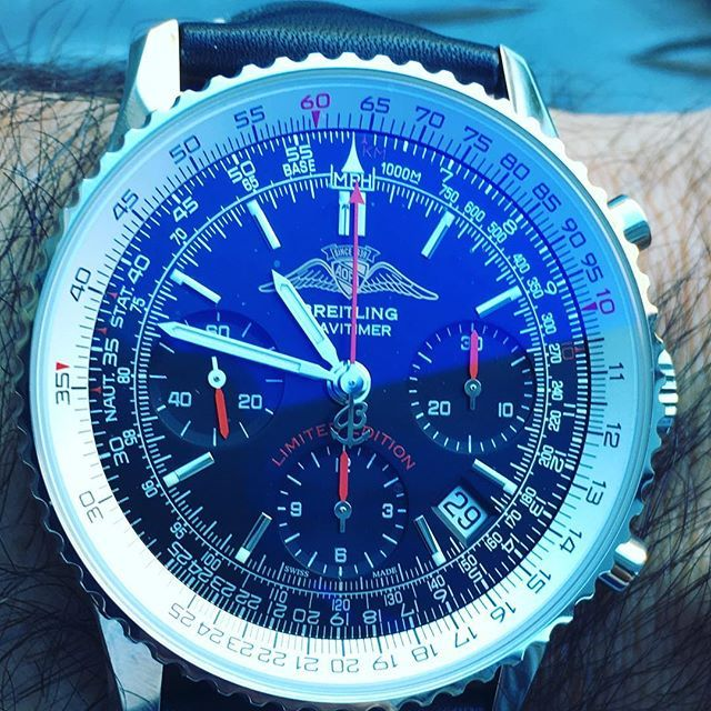 REPOST!!!  Breitling day today. . . #breitling #chronograph #aopa #navitimer #breitlingnavitimer #breitlingnavitimeraopa #instrumentsforprofessionals #watchesofinstagram #watchporn #breitlingwatch #watches #watchesofinsta #watch #vintagewatch #watchaddict #watchcollector #watchoftheday  Photo Credit: Instagram ID @gtsilver911r