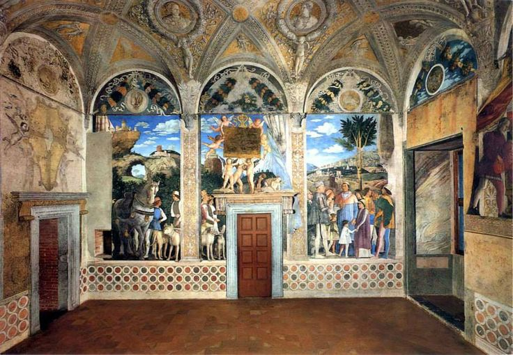 Andrea mantegna camera degli sposi 1465 1474 mantova for Camera picta mantova