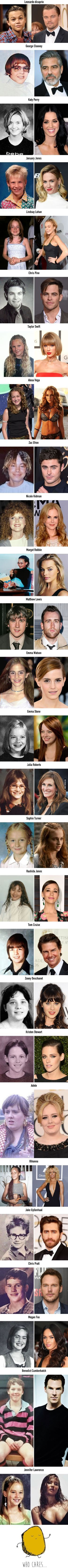 27 celebrities who blossomed after puberty