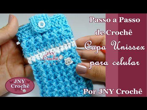Passo a Passo Case de Crochê para Iphone Corujinha por JNY Crochê - YouTube