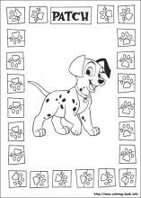101 Dalmatians Coloring Pages On Book