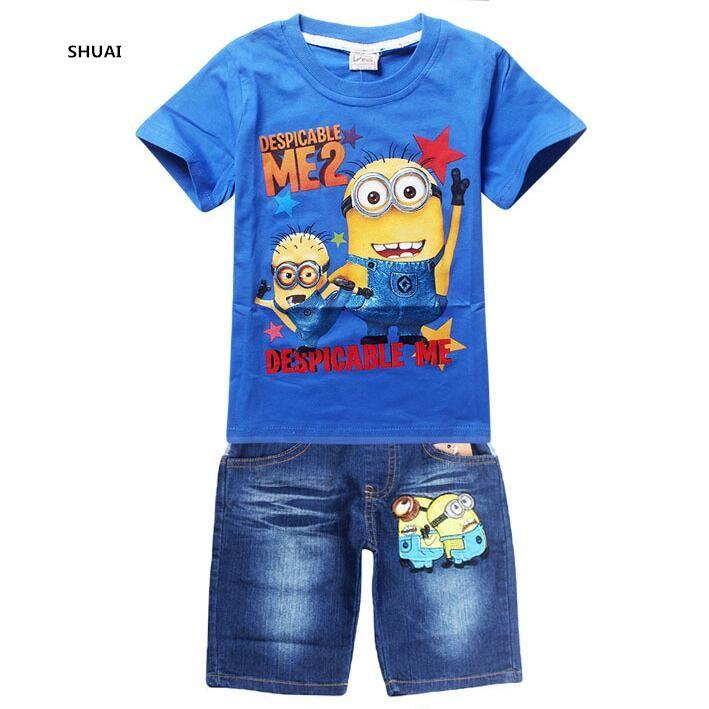 $5.63 (Buy here: https://alitems.com/g/1e8d114494ebda23ff8b16525dc3e8/?i=5&ulp=https%3A%2F%2Fwww.aliexpress.com%2Fitem%2FNew-Boys-Minions-Clothing-Sets-Children-Summer-Cotton-Short-Shirt-Jeans-2-Piece-Suit-Kids-Clothes%2F32735222104.html ) New Boys Minions Clothing Sets Children Summer Cotton Short Shirt + Jeans  2 Piece Suit Kids Clothes Set for just $5.63