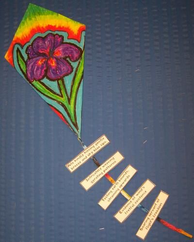 Art & Writing Projects from WritingFix: Tail Acrostic Poems and Personailzed Kites