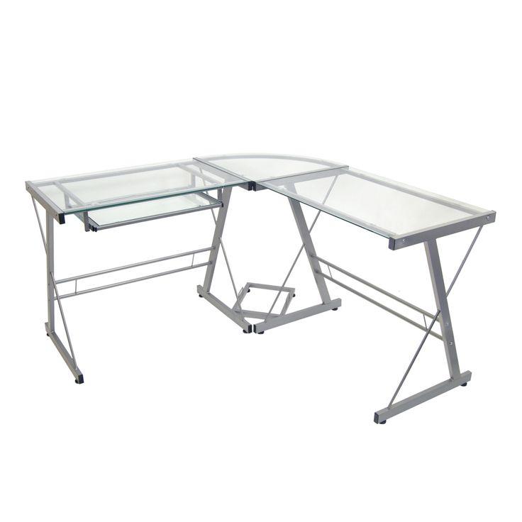 30 White Glass Corner Desk - Modern Style Furniture Check more at http://michael-malarkey.com/white-glass-corner-desk/