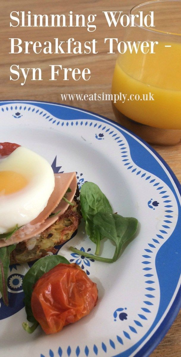 Syn Free Slimming World Breakfast Tower . A lovely slimming world friendly breakfast recipe including rosti and poached eggs