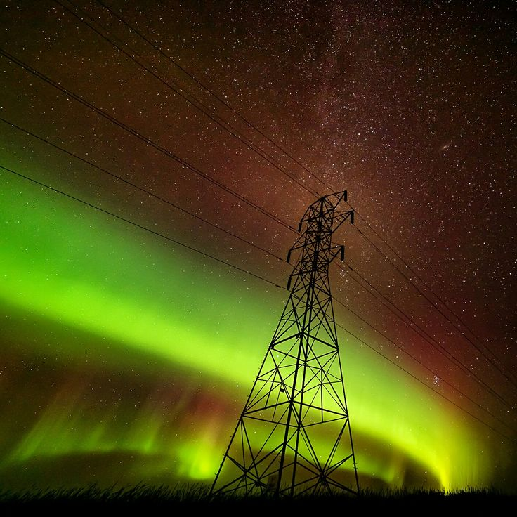 Northern lights Show in Manitoba, Canada