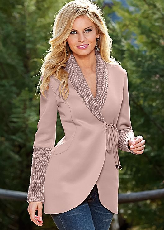 We're totally blushing right now.. ;) Venus wrap sweater detail coat.