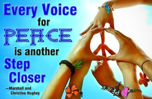 Every voice for Peace is another step closer.