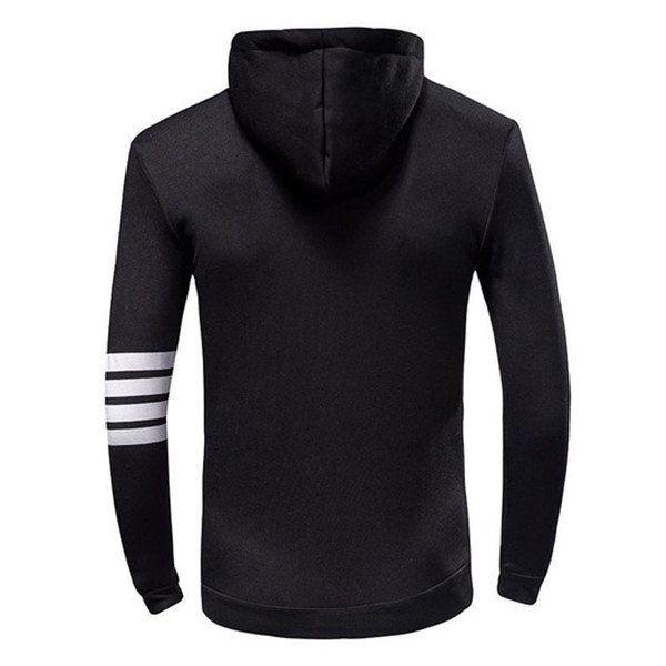 Mens Fashion Sports Hoodies Casual Zipper Hooded Jackets at Banggood