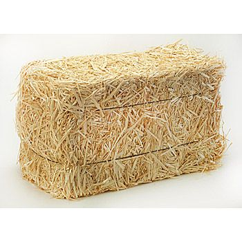 Mini Straw Bales Christmas Decorations