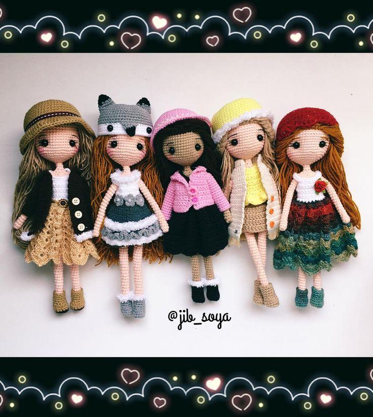 "Polubienia: 515, komentarze: 14 – Jib Soya (@jib_soya) na Instagramie: ""#amigurumi #cute #crochet #handmade #gift #girl #jibsoya"""