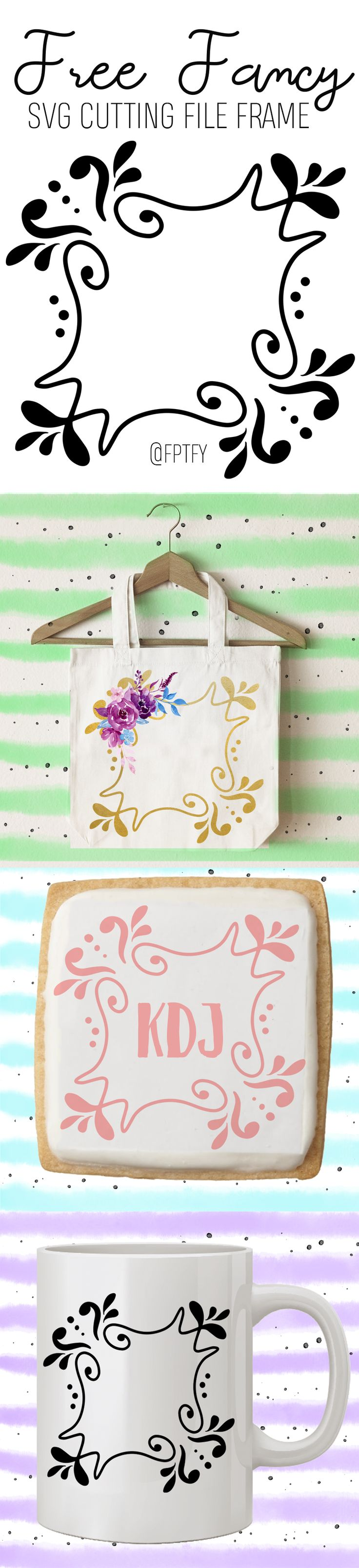 Free fancy SVG CUTTING FILE Frame - Free Pretty Things For You