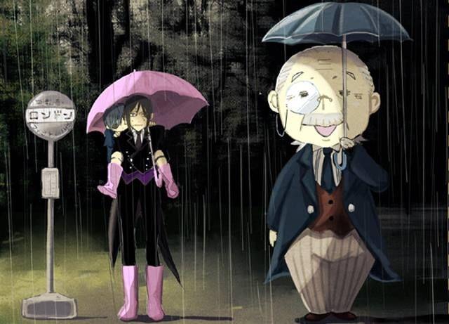 Ciel Sebastian and Tanaka