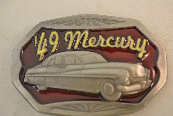 1949 Mercury Auto Car Vehicle Ford C+J C J Belt Buckle VTG Vintage Model 1693 #CJ #Novelty