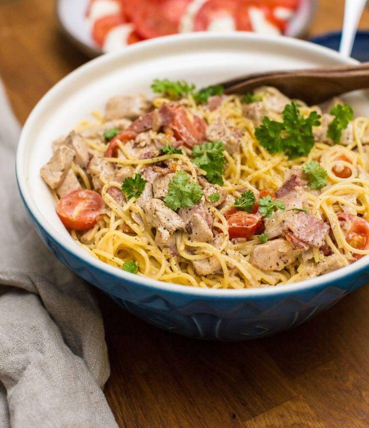 Lättlagad pasta med kyckling