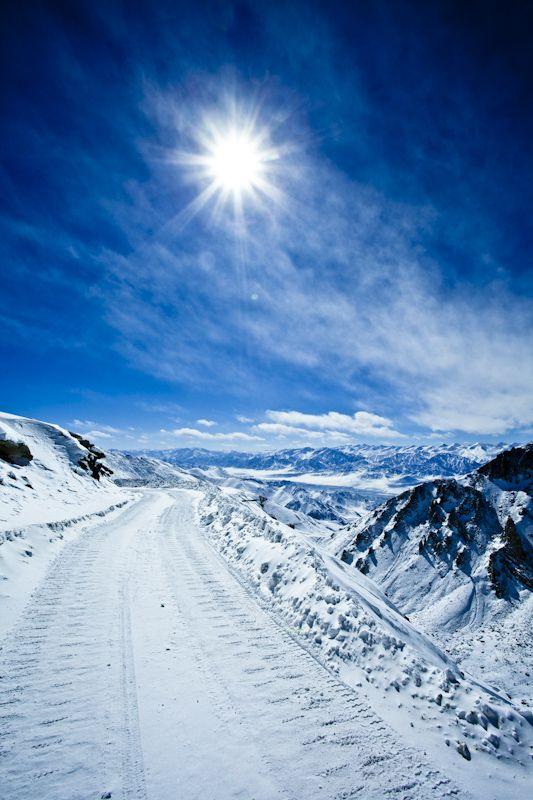 Sun, sky, blue. Ladakh.