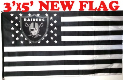 Deluxe Flag Oakland Raiders Raider US Nation RARE 3x5 Feet NFL Sale ...