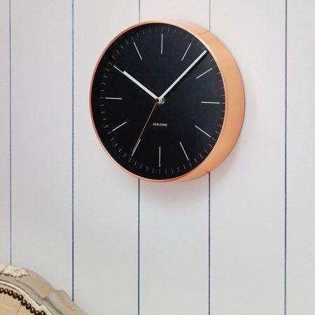 Copper and Black Clock - Clocks & Telephones - Home Accessories